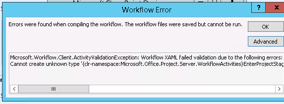 WorkFlow Manager Error